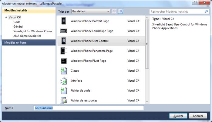 Create a new user control